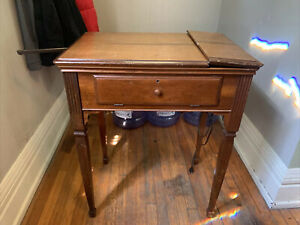 🔥Vintage Singer Sewing Machine In Desk Art Deco #201 2 RARE 🔥TESTED WORKING 🔥 $179.79