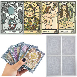 DIY Epoxy Resin Silicone Molds Tarot Divination Mould Casting Making Craft Ton8