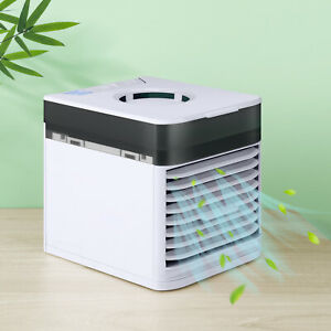 Usb Portable Air Cooler Conditioner Purifier Desktop Air Cooling Fan Gifts $14.00