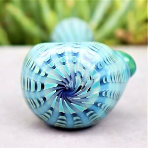 4.5 BLUE DIMENSION THICK GLASS COLLECTIBLE TOBACCO SMOKING HERB BOWL HAND PIPES $15.99