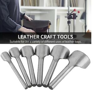 6pcs DIY Leather Carft set Half Round Punch Belt End Cutter For Leather Sewing $10.69