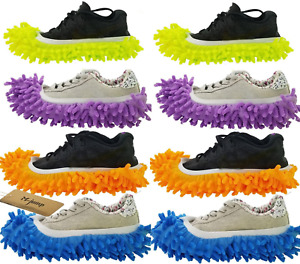 M jump 8 PCS 4 Pairs Duster Mop Slippers Shoes Cover Multi Function Chenille