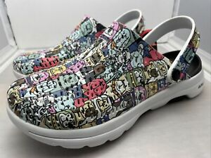 Skechers Womens Go Walk Dog Lover Character Clogs Size 8