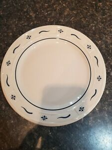 """1 Longaberger Pottery 9"""" Woven Traditions Heritage Blue Dinner Plates $18.00"""