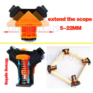 4Pcs Set 90 Degree Right Angle Clip Clamps Corner Holders Woodworking Hand Tools $12.79