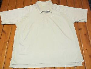 Under Armour Polo Shirt Mens 3XL Tan Short Sleeve Loose Golf Stretch Pull Over $19.00