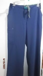 JOCKEY SCRUBS WOMENS PANTS BLUE DRAW STRING SIZE S CLEANING OUT CLOSET