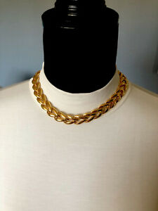 Napier Interchangeable Length Gold Plated Chunky Necklace Patent Numb. Vintage $55.00