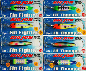 8 Big Jon Trolling Spoons 4 Fin Fighter and 4 Lil Thumper