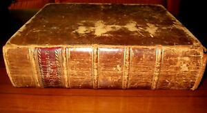 NATHAN HALE FAMILY BIBLE WITH ENTRY American HISTORY Antique REVOLUTIONARY WAR