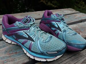 Brooks GTS 17 Womens Running Athletic Training Sneakers Purple Blue Size 8.5 $34.99