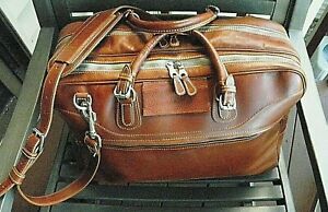 Mulholland Brothers full grain US leather Heritage travel bag; superb condition $379.00