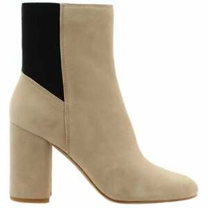Dolce Vita Ramona Womens Boots Ankle High Heel 3quot; amp; Up Beige