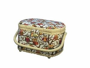 Michley Sewing Basket with 41 PC Sewing Kit Owls $32.23