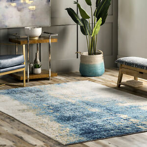 nuLOOM Dixie Contemporary Abstract Waterfall Area Rug in Blue $134.36