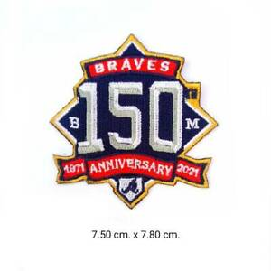  Atlanta Braves 150th Anniversary MLB logo for patch ironsewing on $3.29