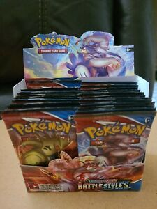 10 Battle Styles Booster Pack Lot From Pokemon Booster Box $55.00