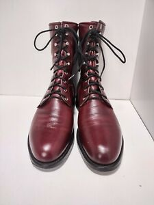 Justin boots 560 Sz. 9 D Lace Up Dark Red