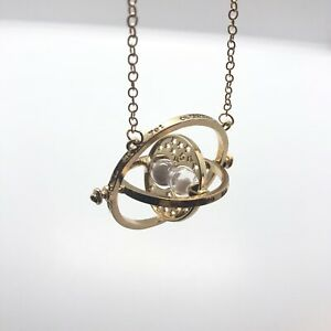 Harry Potter Time Turner Gold Hourglass Necklace Pendant Hermione Aus Seller AU $19.99
