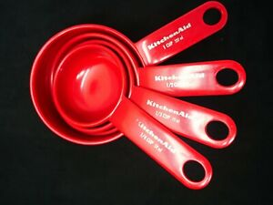 KitchenAid Red Measuring Cup Set 1 4 1 3 1 2 1 Cup