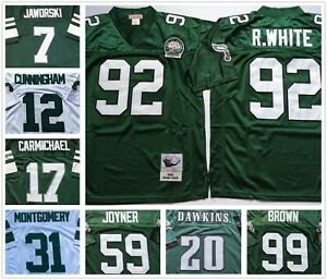 Vintage Philadelphia Eagles Throwback Replica Stitched Jersey Pick Your Size