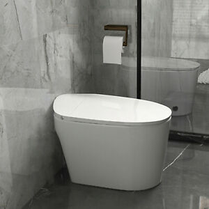 Elongated One Piece Electromagnetic Toilet With Advance Bidet Soft Closing Seat $333.99