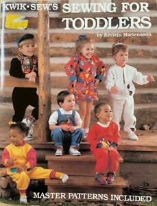 Kwik Sew SEWING FOR TODDLERS Martensson Master Pattern UNCUT Unisex sz 1 4 Knits $14.99