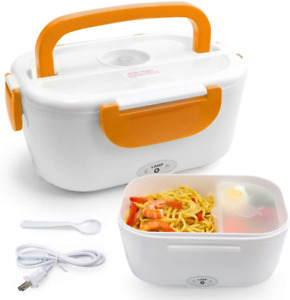 Electric Lunch Food Heater Portable Box Containers Warming 110V Box Orange New $19.76