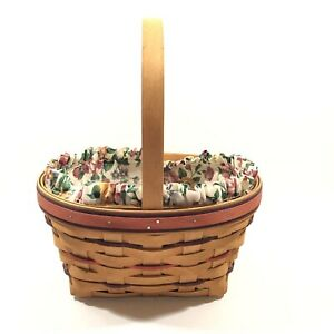 Longaberger 1995 EASTER BASKET With Fabric Liner amp; Plastic Protector $23.80