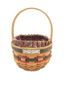 Longaberger 1997 Inaugural Basket Combo with Liner Protector $19.99