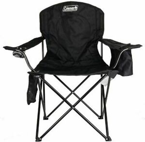 Coleman Camping Chair with 4 Can Cooler Black