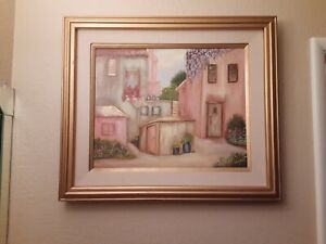 Beautiful Vintage Painting by Frances Long Lee 23 1 2quot; x 27 1 2quot; Preowned $50.00