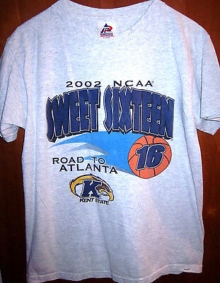 KENT STATE youth XL tee Ohio FLASHES basketball T shirt 2002 NCAA Sweet 16