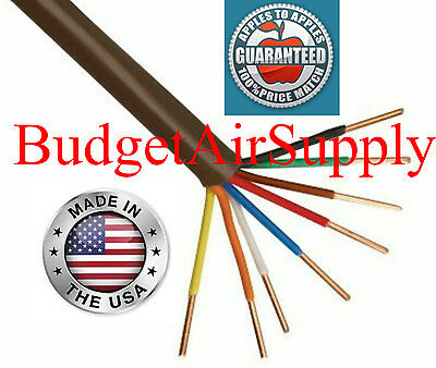 Thermostat Wire 18-8 x 50ft  18 Gauge 8 wire conductor 188 MADE in the USA