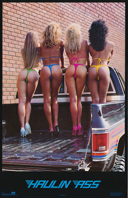 POSTER HAULIN ASS - SEXY FEMALE MODELS - FREE SHIPPING     1008      RC16 J