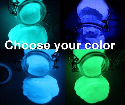 GLOW IN THE DARK PIGMENT POWDER Acrylic Nail Art CASTING RESIN POWDER COATING