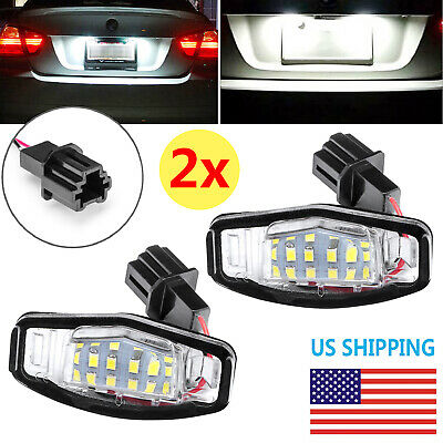 2 LED License Plate Light For Honda Accord Civic Acura TSX TL Direct Replacement