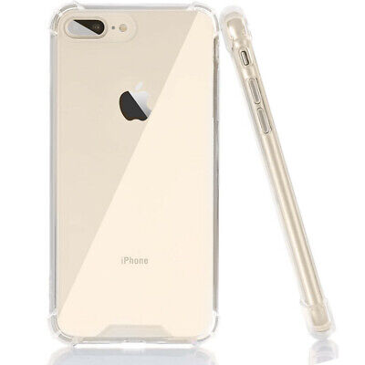 For Apple iPhone 8 Plus  7 Plus Case Clear Hybrid Shockproof TPU Bumper Cover