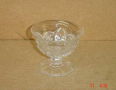 EAPG CRYSTAL TOLTEC FOOTED SAUCE OR SHERBET MCKEE GLASS 1904-10