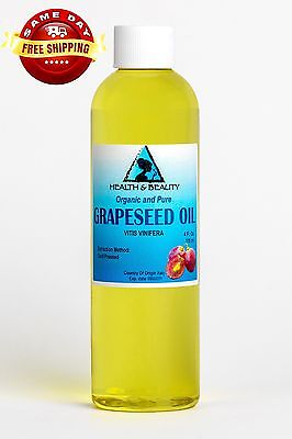 GRAPESEED OIL ORGANIC CARRIER COLD PRESSED 100 PURE 4 OZ