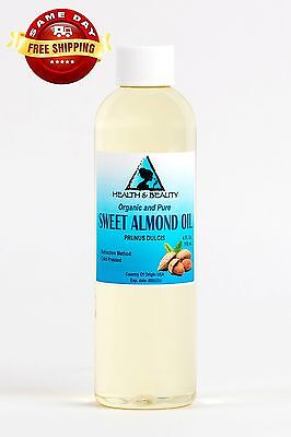 SWEET ALMOND OIL ORGANIC CARRIER COLD PRESSED REFINED 100 PURE 4 OZ