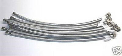 CASE OF 100 PCS 20 STAINLESS STEEL FAUCET SUPPLY LINES 12IPS X 38OD