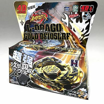 L-DRAGO GOLD BEYBLADE 4D TOP METAL FUSION FIGHT MASTER NEW - LAUNCHER USA SELLER