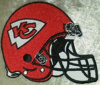 Kansas City Chiefs Helmet 3-5 Iron On Embroidered Patch FREE Ship