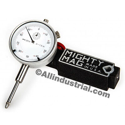 MIGHTY MAG - 0-1 DIAL INDICATOR COMBO SET INSPECTION HOLDER MAGNETIC BASE KIT