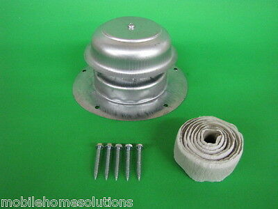 Metal Roof Vent Cap Mobile Home Parts RV Camper Trailer w Install Kit