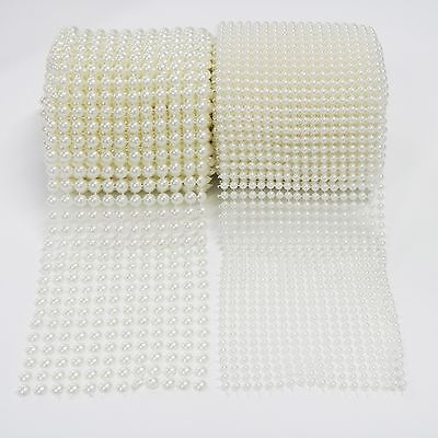 1 Yard X 4-5 Pearl Mesh Roll By Blinggasm Choose Size 5mm-18 or  9mm-12 Rows