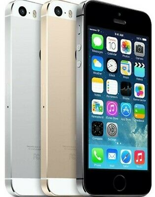 Apple iPhone 5S - 16 32 64GB GSM Factory Unlocked Smartphone Gold Gray Silver-