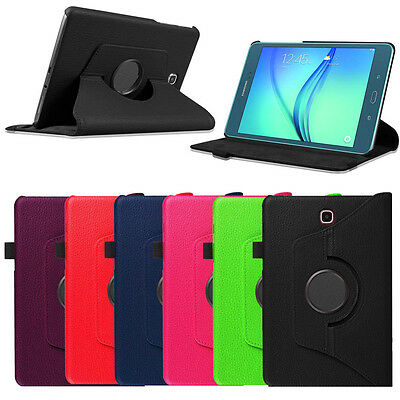 Rotating Swivel PU Leather Case Cover For Samsung Galaxy Tab A 8 Inch 8-0 T350