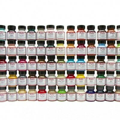Angelus Brand Acrylic Leather Vinyl Waterproof Paint Color Chart 720 Collection